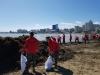포항해변은 지금 산더미 바다쓰레기로 몸살!